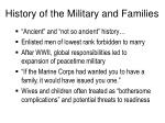history of the military and families