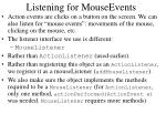 listening for mouseevents