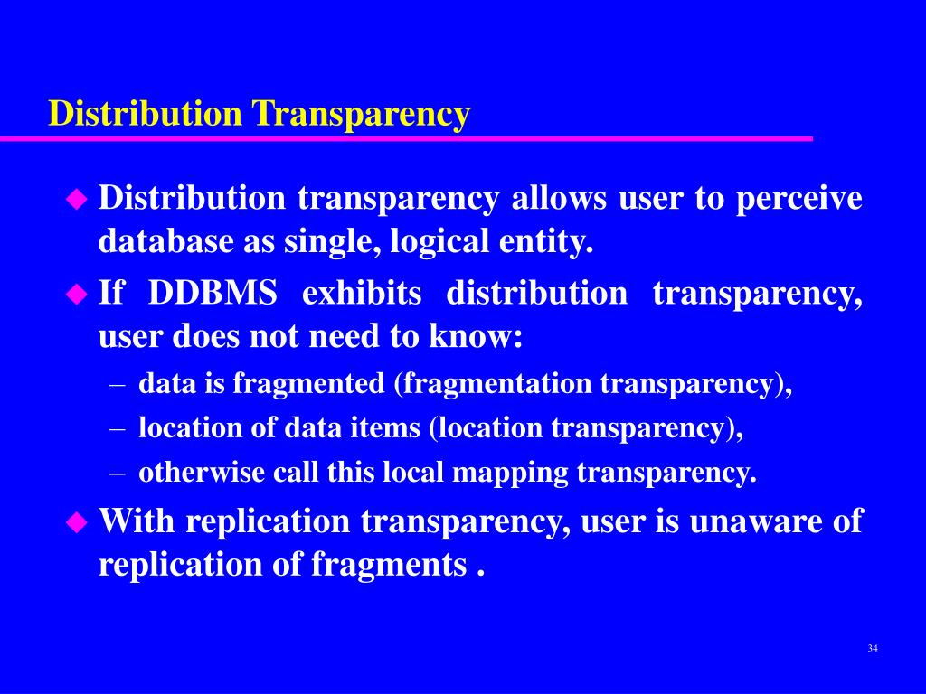Distribution Transparency
