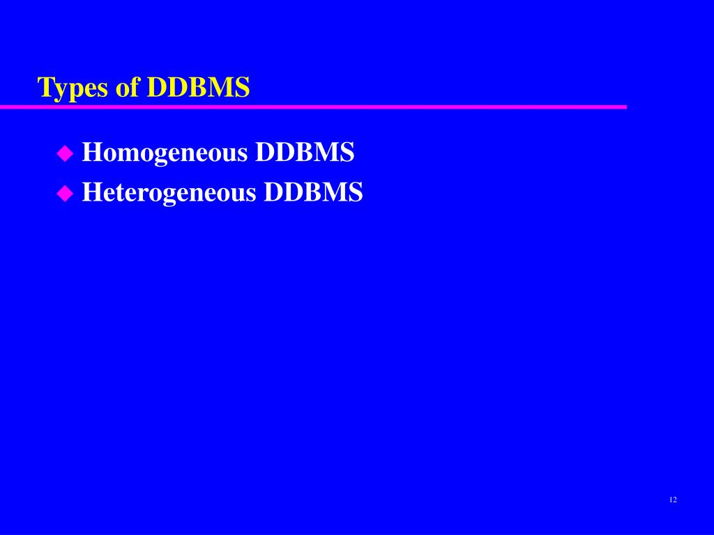 Types of DDBMS