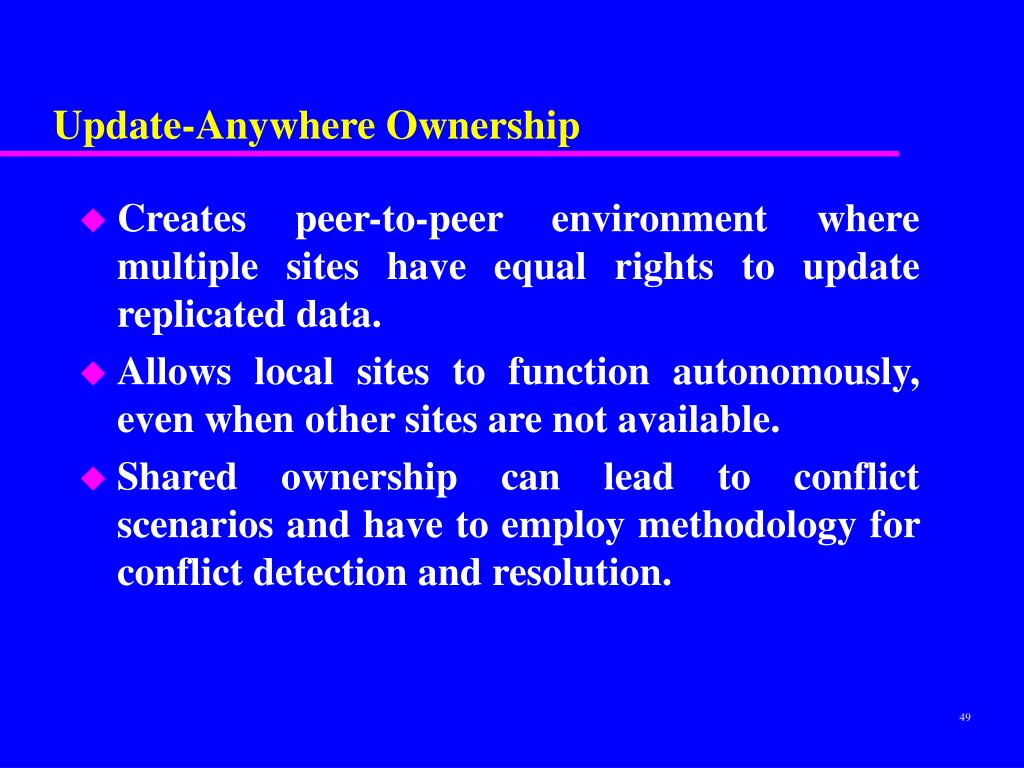 Update-Anywhere Ownership