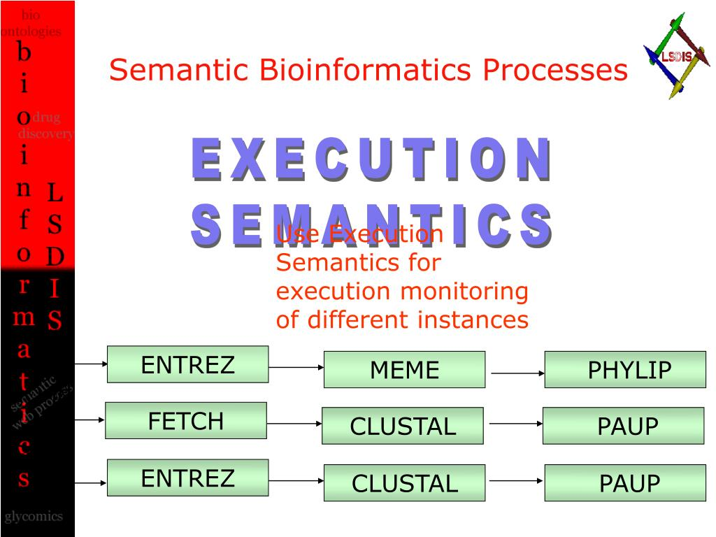 Semantic Bioinformatics Processes