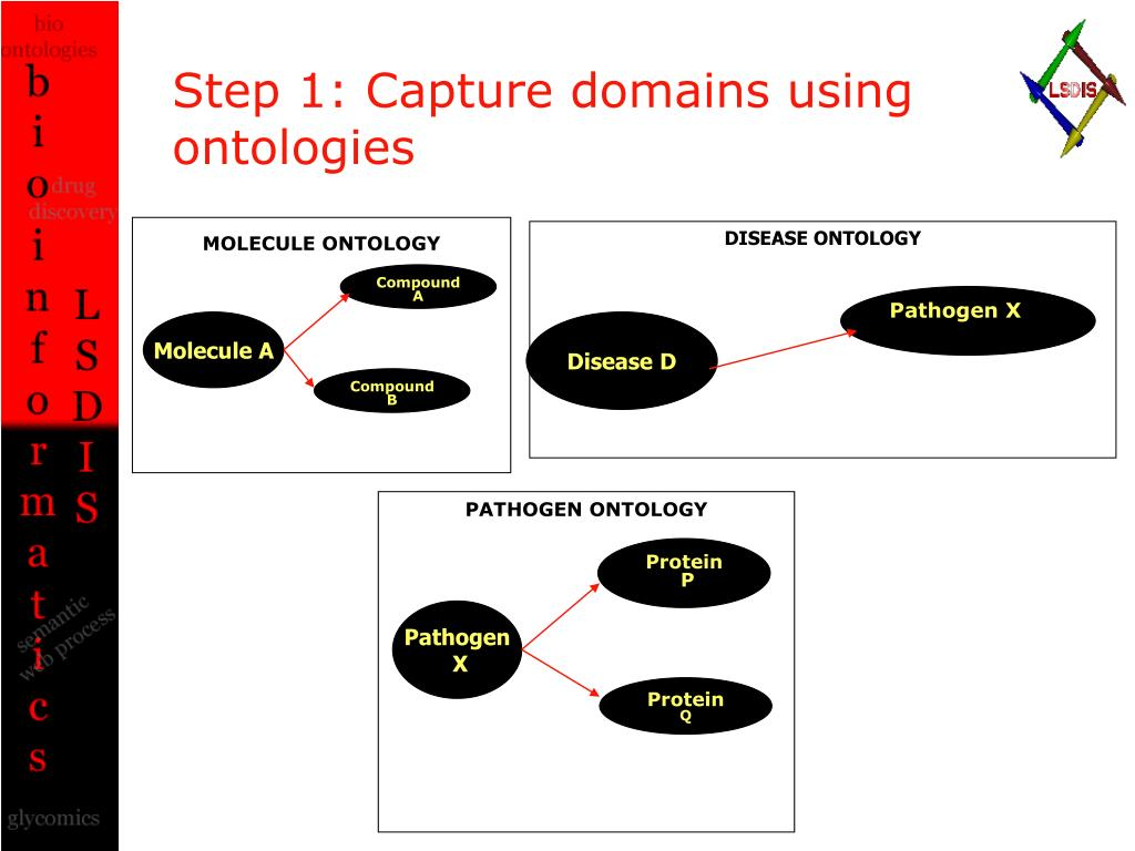 Step 1: Capture domains using ontologies