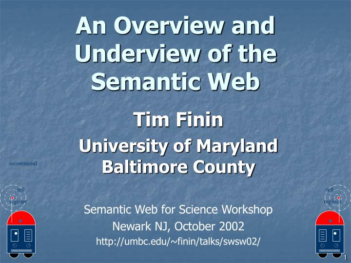 An overview and underview of the semantic web