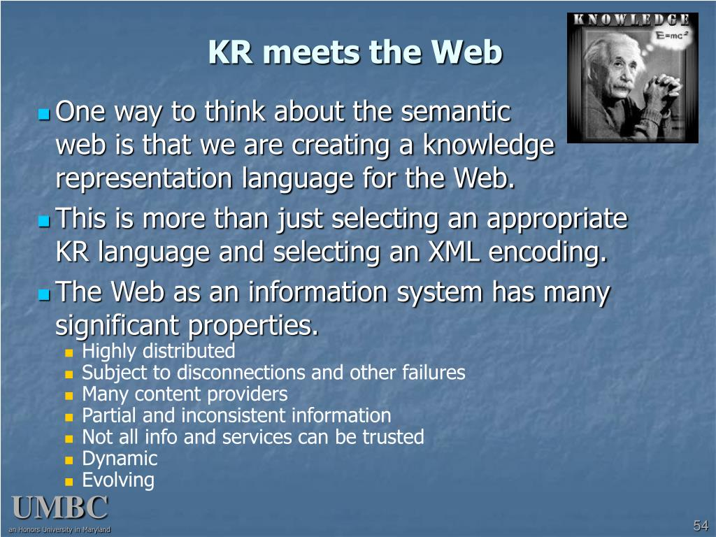 KR meets the Web