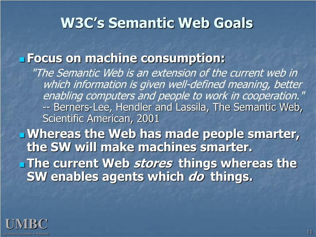 W3C's Semantic Web Goals