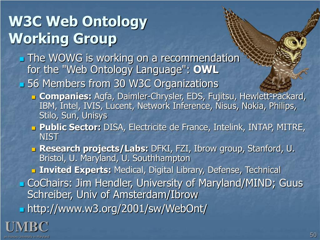 W3C Web Ontology
