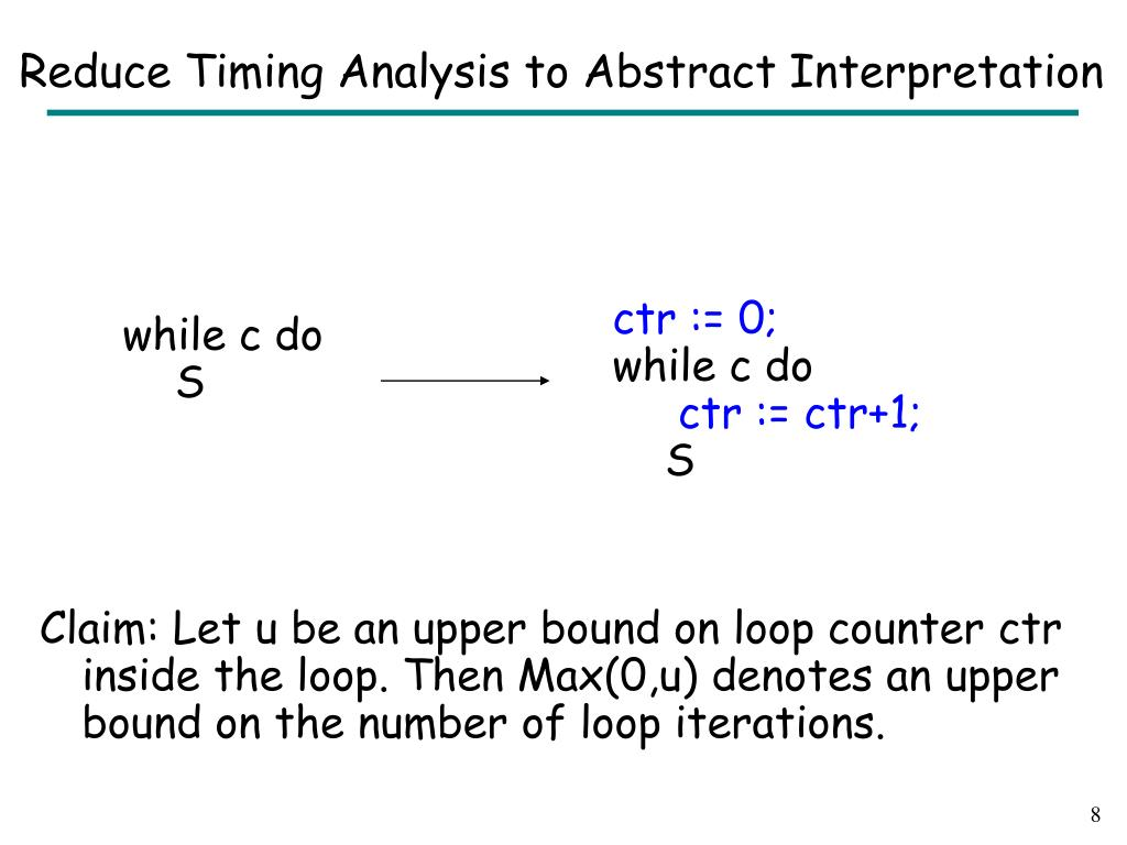 Reduce Timing Analysis to Abstract Interpretation