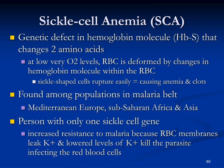 Sickle-cell Anemia (SCA)