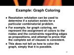 example graph coloring