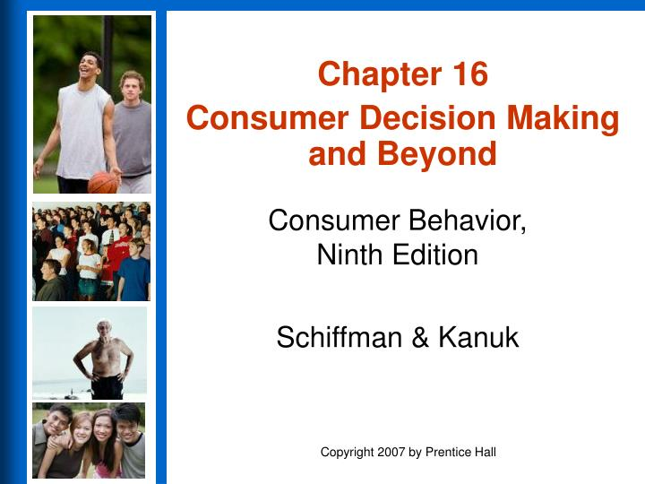 chapter 16 consumer decision making and beyond n.