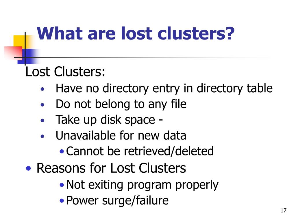 What are lost clusters?
