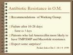 antibiotic resistance in o m14