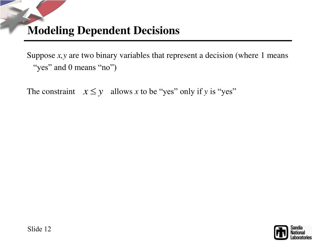 Modeling Dependent Decisions