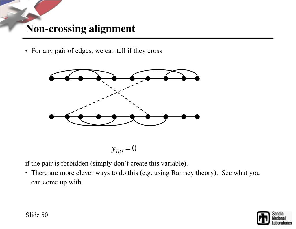 Non-crossing alignment