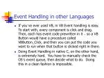 event handling in other languages