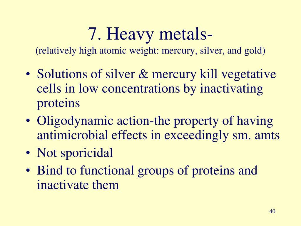 7. Heavy metals-