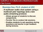 audiopeer a collaborative distributed audio chat system
