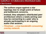 audiopeer a collaborative distributed audio chat system17