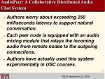 audiopeer a collaborative distributed audio chat system18