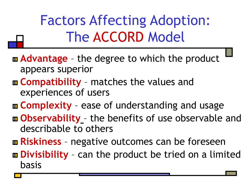 Factors Affecting Adoption: