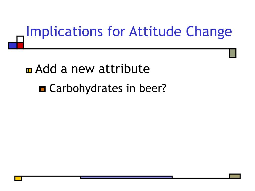 Implications for Attitude Change