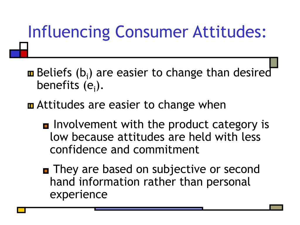 Influencing Consumer Attitudes:
