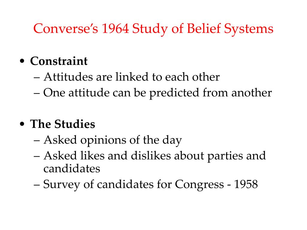 Converse's 1964 Study of Belief Systems