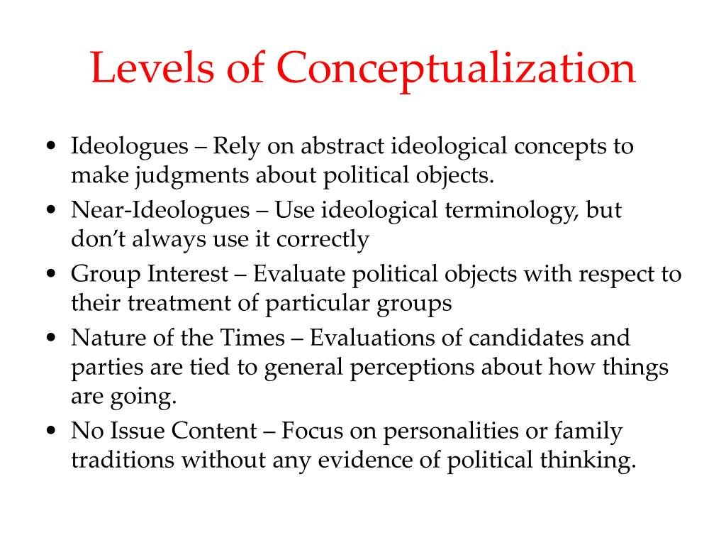 Levels of Conceptualization