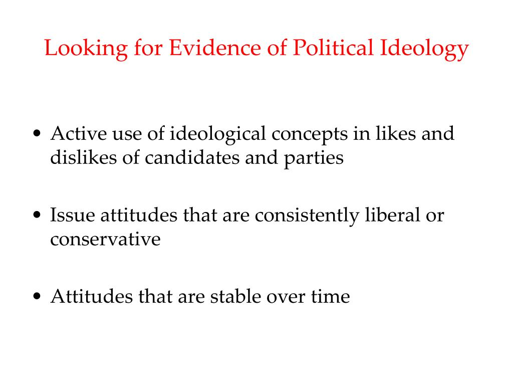 Looking for Evidence of Political Ideology