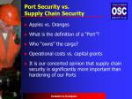 port security vs supply chain security