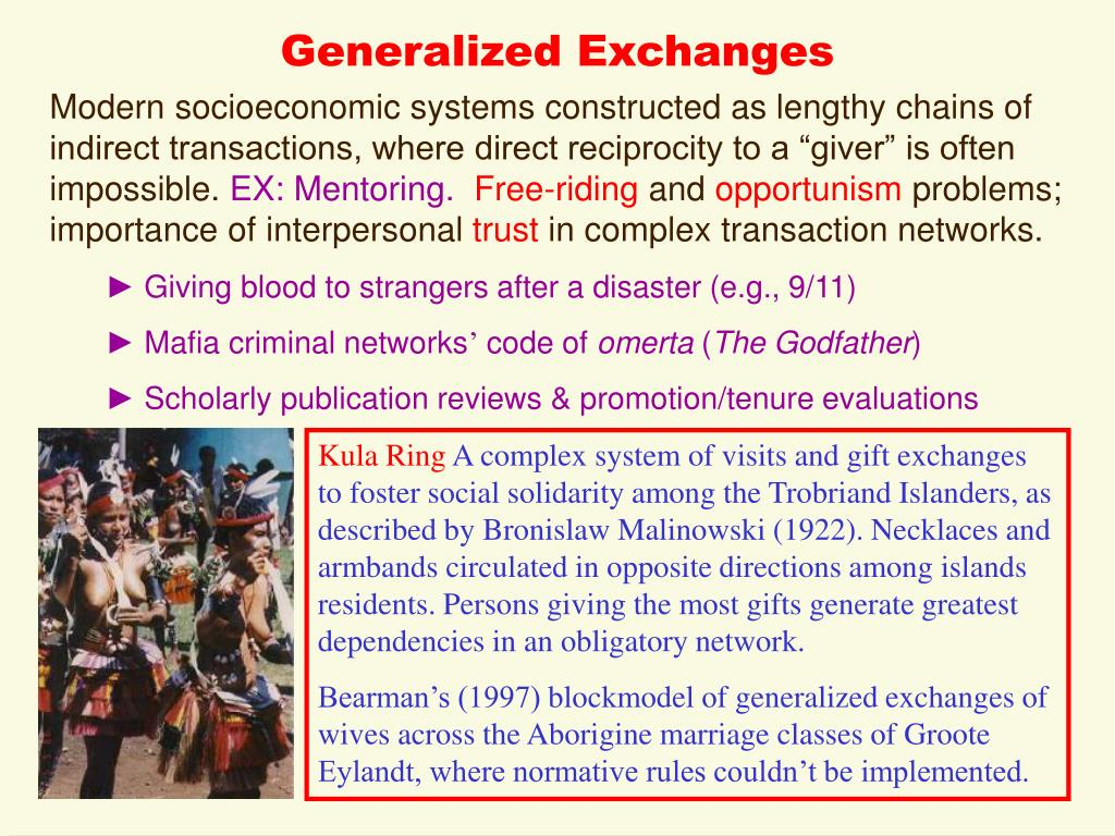 Generalized Exchanges