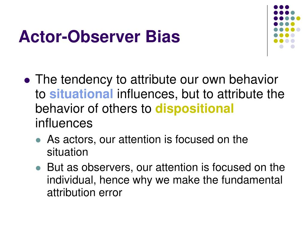 Actor-Observer Bias
