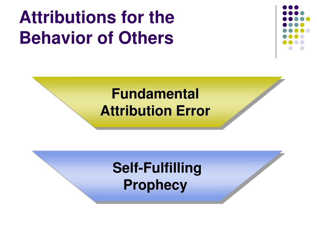 Attributions for the