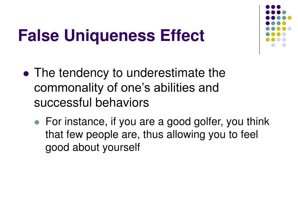 False Uniqueness Effect