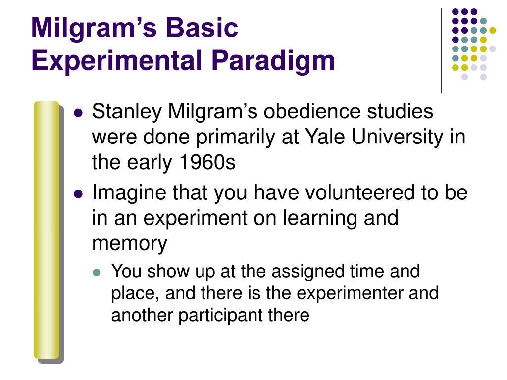 Milgram's Basic