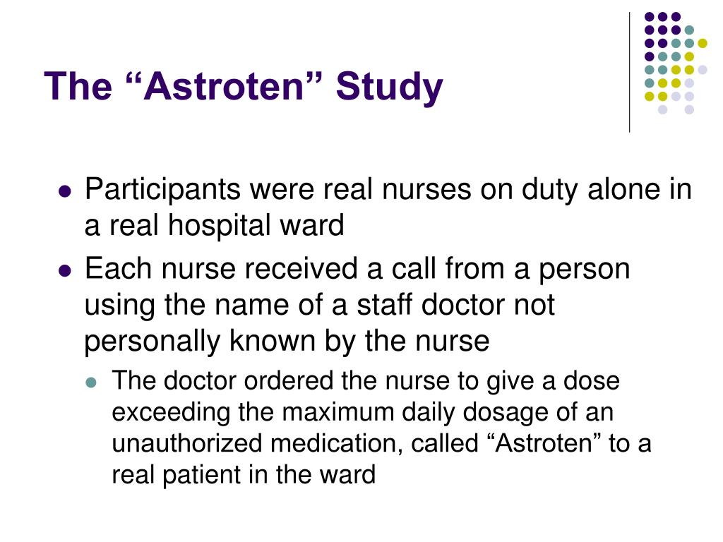 "The ""Astroten"" Study"