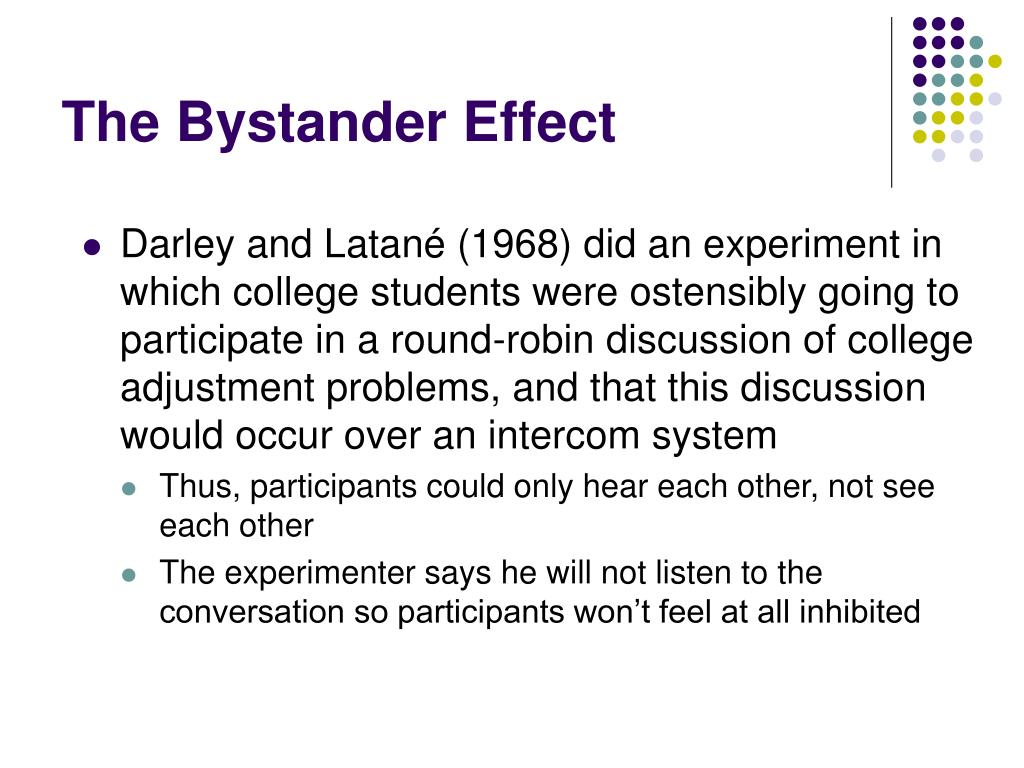 The Bystander Effect