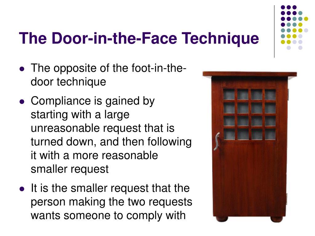 The Door-in-the-Face Technique