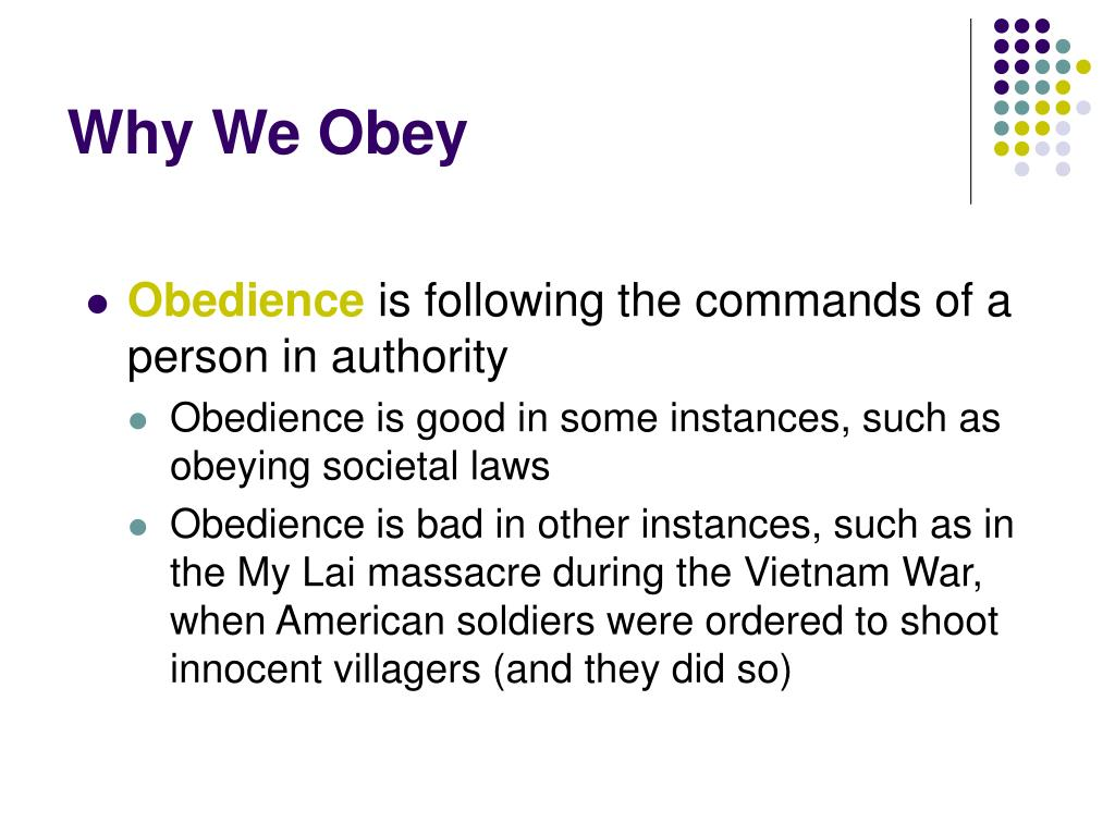 Why We Obey