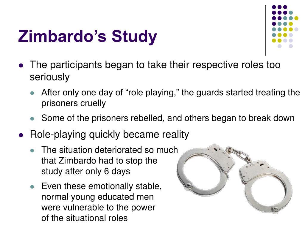 Zimbardo's Study