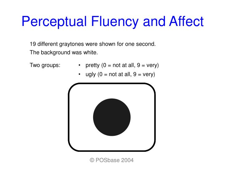 Perceptual fluency and affect3