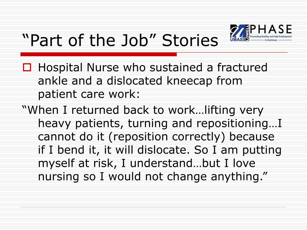 """Part of the Job"" Stories"