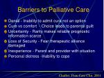 barriers to palliative care