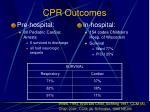 cpr outcomes