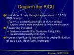 death in the picu