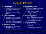 debrief phases