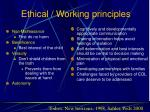 ethical working principles