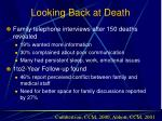looking back at death