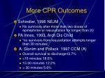 more cpr outcomes